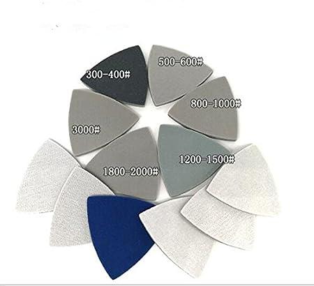Single Grit Set 10pcs Triangle Wet//Dry Flocking Sponge Sanding Disc Sandpaper 90MMx90MMx90MM 3000 Grit Abrasive Tools for Polishing Grinding