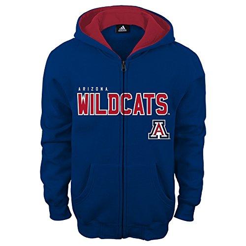NCAA Arizona Wildcats Kids & Youth Boys Stated Full Zip Hoodie, Dark Navy, Youth Medium(10-12) -