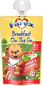 Farex Farex Apple and Oatmeal Pouch, 120g