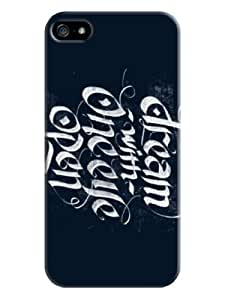 Sangu Art Words Hard Back Shell Case / Cover for Iphone 5 and 5s - Navy