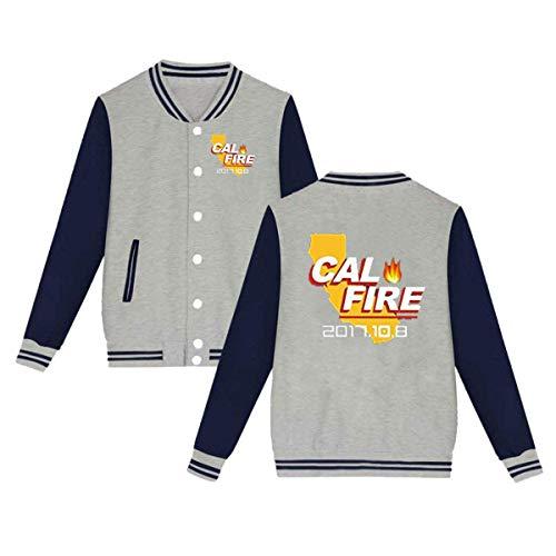 MDClothI Unisex 2017 California Strong Cal Fire Comfortable Baseball Uniform Jacket Sport Coat Plus -