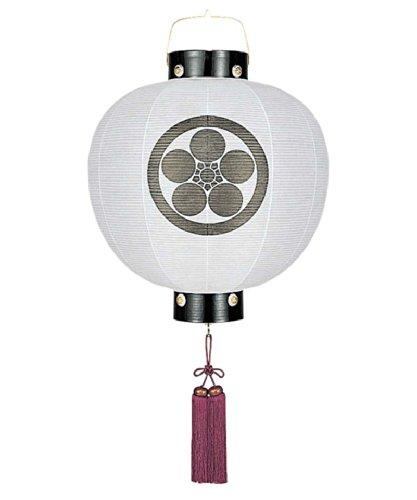 盆提灯 門提灯 丸 無地 15号 電池式 家紋入れ代込み h308-fz-8324-15-000e B0058CLD4M 15号 電池式 15号 電池式
