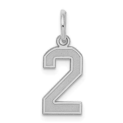 (925 Sterling Silver Small Number 2 Pendant Charm Necklace Sport Laser Etched Fine Jewelry Gifts For Women For Her)