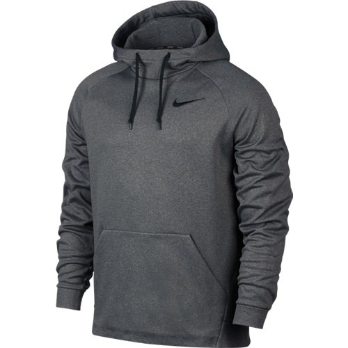 Men's Nike Therma Training Hoodie Carbon Heather/Black Size Small