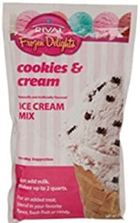 Rival Frozen Delights Cookies and Cream Ice Cream Mix, 8 Oz (Pack of 4