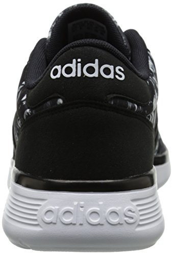 Adidas Neo Donna Lite Racer W Scarpa Da Corsa, Nero / Nero / Bianco, 6,5 M Us