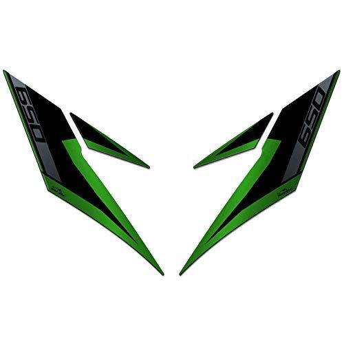 3D-sticker voor de voorkant, compatibel met Kawasaki Versys 650 2017-2020, groen