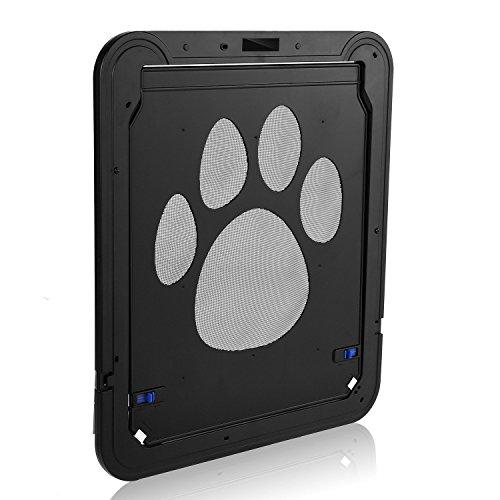 Dog Screen Door Pet Cat Screen Door Protector for Sliding Door, Automatic Lock/Lockable
