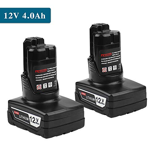 (2PCS 4000mAh Li-ion Rechargeable Bosch 12V/ 10.8V Battery Replacement for Bosch BAT411 BAT411A BAT412 BAT413 PS30 2 607 336 864)