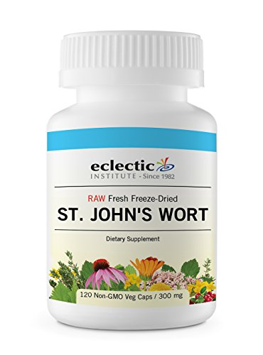 Eclectic St. John s Wort 300 Mg Freeze Dried Vegetables, Blue, 120 Count