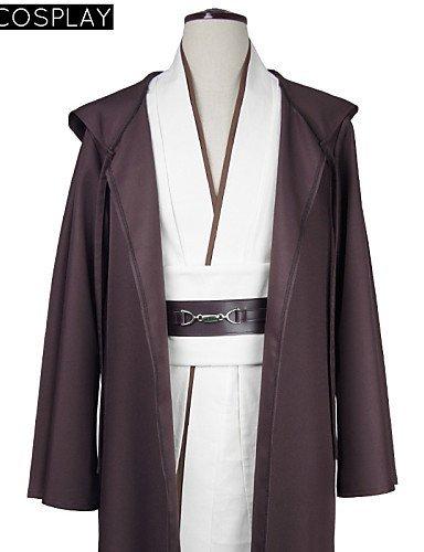 [FW@ Star Wars Obi-Wan Kenobi Jedi Cosplay Costume Tunic Robe Full Set , xl] (Obi Wan Kenobi Baby Costumes)
