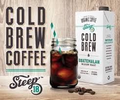 Steep 18 Cold Brew Coffee 32FL oz - Guatemalan Medium Roast Organic Coffee (4 Pack)