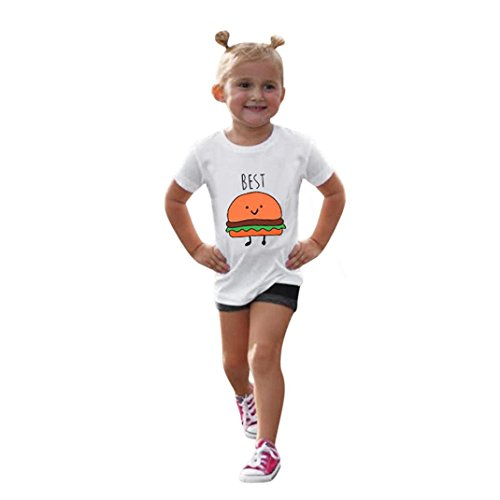 Kids Children Baby Girls Boys Letter Print Soft Tops Cute T-Shirt Clothes (5T(4-5Years), Orange) (Belted Charmeuse Top)