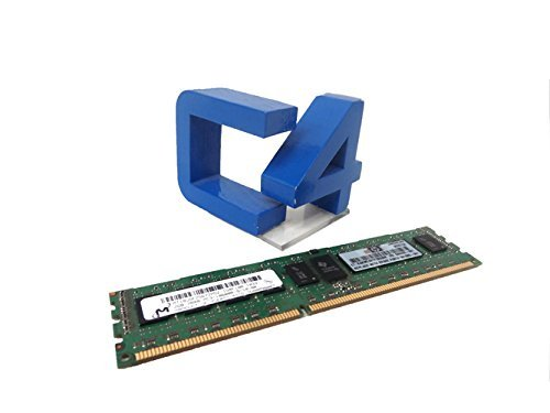 HP - Memory - 2 GB - DIMM 240-pin - DDR3 - 1333 MHz / PC3-10600 - CL9 - registered - ECC 2GB 2RX8 PC3-10600R-9 KIT Manufacturer Part Number 500656-B21 (Certified Refurbished)