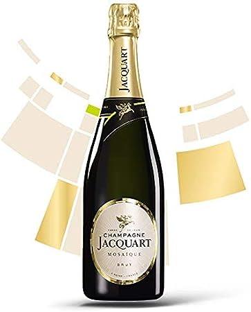 Champagne Francés Jacquart Brut Mosaique - 1 Botella 750 ml - Champagne Rosado Equilibrado con Burbujas Finas - Fabricado en Francia.