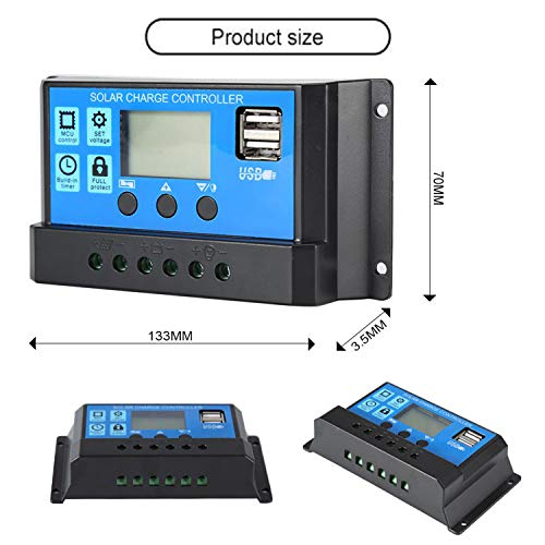 20A Solar Charge Controller Solar Panel Battery Intelligent - Import