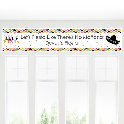 Custom Mexican Fiesta - Personalized Mexican Fiesta or Cinco de Mayo Party Decorations Party Banner by Big Dot of Happiness