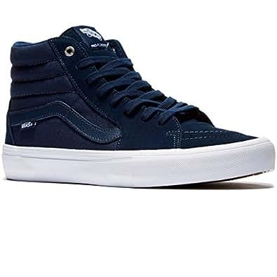 Vans sk8 hi pro navy navy white mens skate for Vans amazon