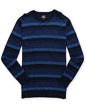 'Actualizer' Men's Blue Horizontal Striped Crew Neck Sweater