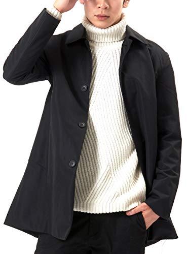 (オリマート) ORI-MART メンズ ステンカラー コート トレンチコート ロング アウター 春秋 防風 無地 シンプル カジュアル 大きいサイズ