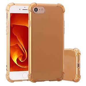 Funda para iPhone 7,ZXK CO Carcasa de Silicona TPU para iPhone 7 4.7 Pulgadas Ultra Slim Absorción de Golpes Alta Resistente Bumper Flexible Tapa Trasera Fina Case Cover-Transparente Oro