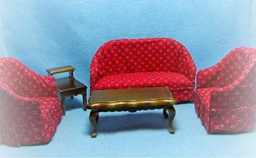 Amazon.com : Dollhouse 5 Pc Living Room Set KL2455 ...