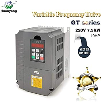 10HP 7.5KW 34A Variable Frequency Drive VFD Converter VSD SPWM Inverter 220V USA