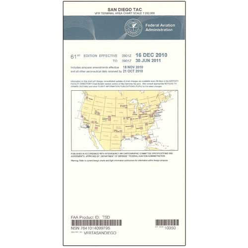 FAA Chart: VFR TAC SAN DIEGO TSD (Current Edition)