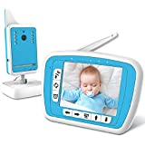 """BIBENE Video Baby Monitor with Digital Camera and Audio,984ft Long Range 3.3"""" LCD Screen,Auto Wake-up, Infrared Night Vision,Two-Way Talk Back 2.3GHz Wireless Transmission,Temperature Sensor, Lullaby"""