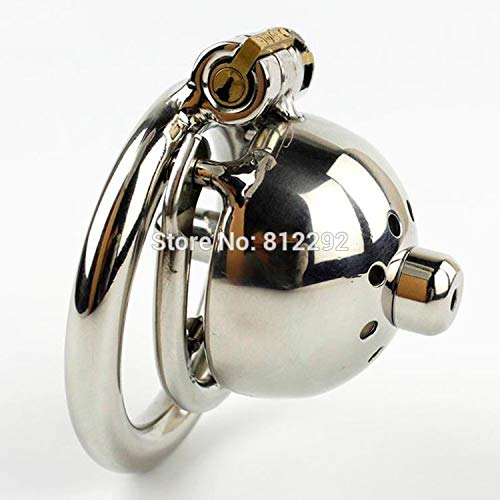 ble Device Super Small Male Chastity Cage with Removable Urethral Sounds Spiked Ring Stainless Steel Chastity Device for Men Cock Belt,45MM Ring ()