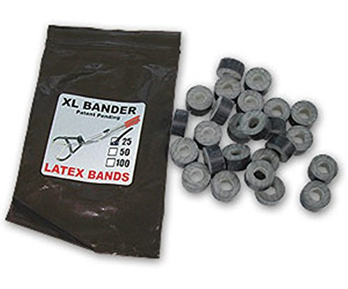 - XL Bull Tri Bander Rings Bands 25 Count Castrate Cattle Sheep Goat