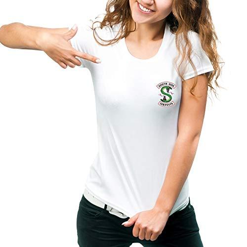 Homme Manche shirt Hip Femme Hop Col Imprime Simple Rond South Color Pull Tunique T Streetwear Tee Top Side 03 Ete Haut Blouse Sport Serpent Basique Courte Riverdale qx8TXwIp