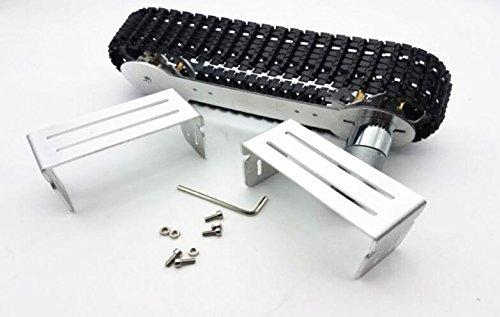 CS PRIORITY Tracker Crawler Aluminium Alloy Platform Damping Damping Damping Balance Metal Tank Robot Chassis high Power Spring Creative DIY Crawler 664745