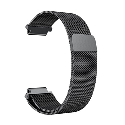 225 Instrument Cable (Lisin Milanese Stainless Steel Watch Band Strap Bracelet For Garmin Vivoactive Acetate (Black))