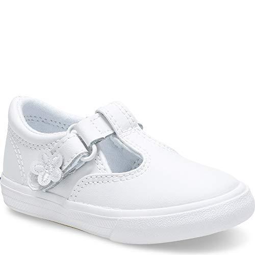 Keds girls Daphne T-Strap Sneaker , White, 5 M US Toddler
