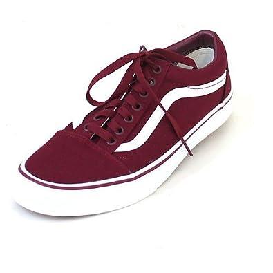 7244e093182a Vans Old Skool (Canvas) Cordovan True White  Amazon.co.uk  Shoes   Bags