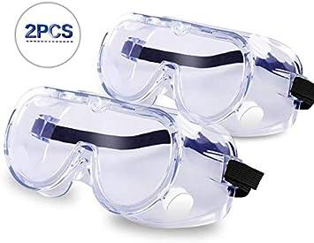 Sammiu Gafas Protectoras Chemical Splash–Gafas Protectoras Gafas Gafas para Ojo Protección (2Unidades)