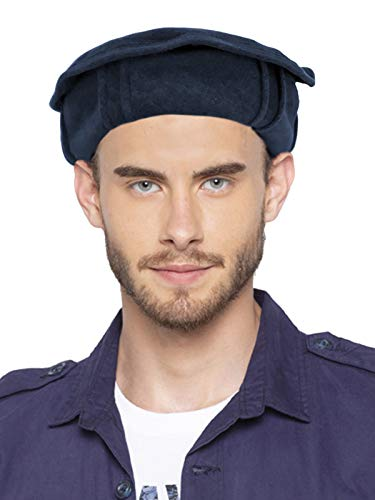 Vastraa Fusion Woolen Afghan Pakol Topi/Cap for Men & Women - Blue