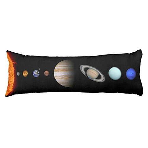 Lumbar Pillow Cover Solar System Inline Outer Space Body Pillow Case 20 x 54 inch