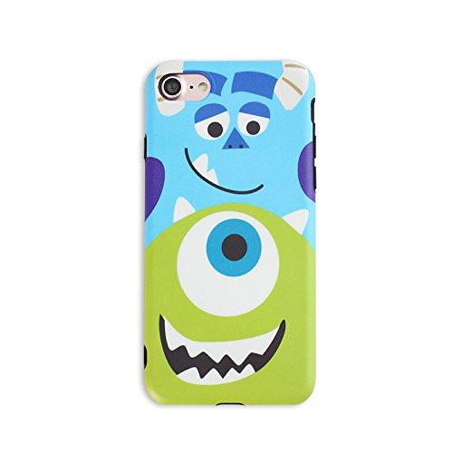 Slim Fit Soft TPU Mike Sulley Case for iPhone 7 8 iPhone7 iPhone8 Regular Size Pixar Cartoon Monsters University Thin Sleek Smooth Shockproof Protective Cute Lovely Cool Stylish Gift Kids Teens Girls -