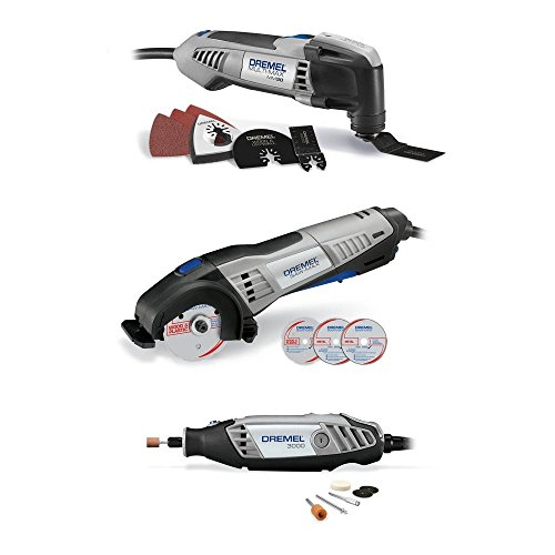Dremel 3 Tools Combo Kit with Storage Bag and 15 Accessories - CKDR-04 by Dremel