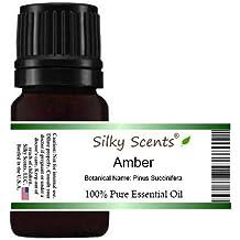 SILKY SCENTS Amber Essential Oil (Pinus Succinifera) 100% Pure Therapeutic Grade, 5 mL