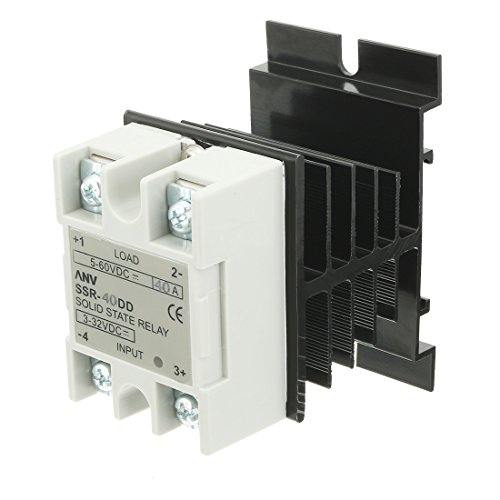uxcell® SSR-40 DD 40A DC 3-32V to DC 5-60V SSR Solid State Relay + Heat Sink + Thermal Compound