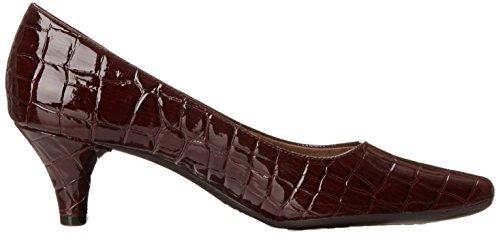 Aerosoler Kvinna Glad Klänning Pump Mörkröd Krokodil