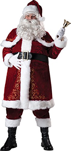 InCharacter Costumes Men's Plus-Size Jolly Ole St. Nick Costume, Red/White, 3X ()