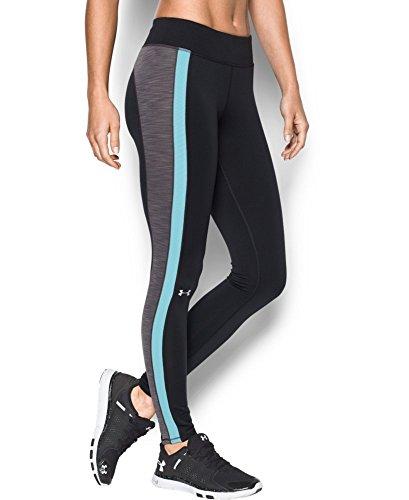 Under Armour Women's ColdGear Legging, Black/Metallic Silver, Large