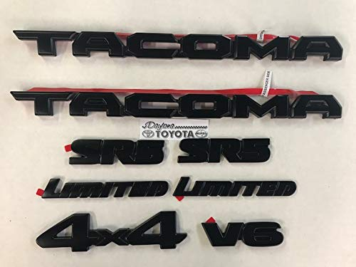 Black Out Emblem Overlay Kit for Toyota Tacoma PT948-35180-02
