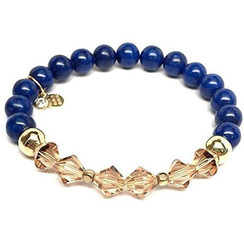 Chloe Sterling Silver Bracelet - Blue Jade Swarovski Crystal