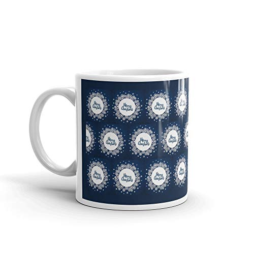 Christmas Background With Volumetric Snowflakes Water Mug]()