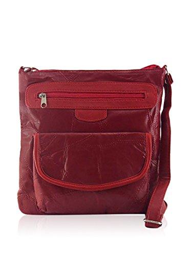 Tienda Calidad 9139PR Basic Collection Bolsos bandolera, 27 cm, Rojo